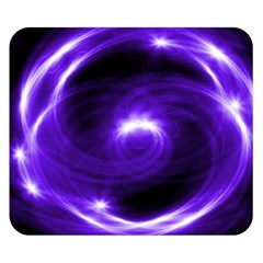 Purple Black Star Neon Light Space Galaxy Double Sided Flano Blanket (small)