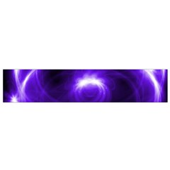 Purple Black Star Neon Light Space Galaxy Flano Scarf (small)