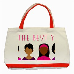 Black Girls Be The Best You Classic Tote Bag (red)