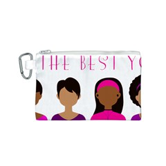 Black Girls Be The Best You Canvas Cosmetic Bag (s)