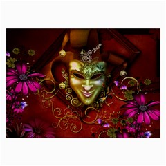 Wonderful Venetian Mask With Floral Elements Large Glasses Cloth