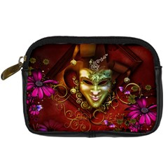 Wonderful Venetian Mask With Floral Elements Digital Camera Cases