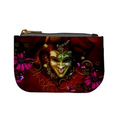 Wonderful Venetian Mask With Floral Elements Mini Coin Purses