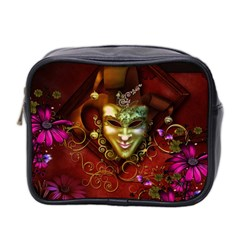 Wonderful Venetian Mask With Floral Elements Mini Toiletries Bag 2 Side
