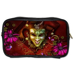 Wonderful Venetian Mask With Floral Elements Toiletries Bags