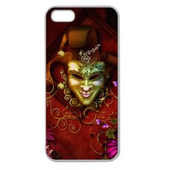 Wonderful Venetian Mask With Floral Elements Apple Seamless Iphone 5 Case (clear)