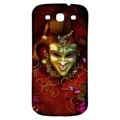 Wonderful Venetian Mask With Floral Elements Samsung Galaxy S3 S Iii Classic Hardshell Back Case