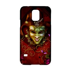 Wonderful Venetian Mask With Floral Elements Samsung Galaxy S5 Hardshell Case