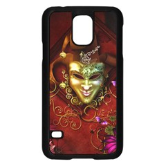 Wonderful Venetian Mask With Floral Elements Samsung Galaxy S5 Case (black)
