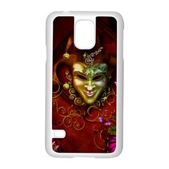 Wonderful Venetian Mask With Floral Elements Samsung Galaxy S5 Case (white)
