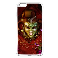 Wonderful Venetian Mask With Floral Elements Apple Iphone 6 Plus/6s Plus Enamel White Case