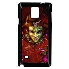 Wonderful Venetian Mask With Floral Elements Samsung Galaxy Note 4 Case (black)