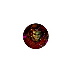 Wonderful Venetian Mask With Floral Elements 1  Mini Buttons