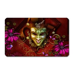 Wonderful Venetian Mask With Floral Elements Magnet (rectangular)