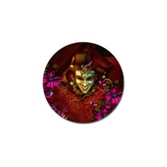Wonderful Venetian Mask With Floral Elements Golf Ball Marker
