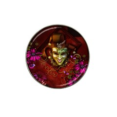 Wonderful Venetian Mask With Floral Elements Hat Clip Ball Marker (4 Pack)