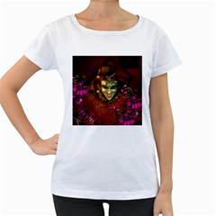 Wonderful Venetian Mask With Floral Elements Women s Loose Fit T Shirt (white)