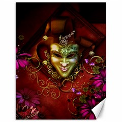 Wonderful Venetian Mask With Floral Elements Canvas 12  X 16