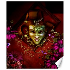 Wonderful Venetian Mask With Floral Elements Canvas 20  X 24
