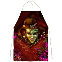Wonderful Venetian Mask With Floral Elements Full Print Aprons