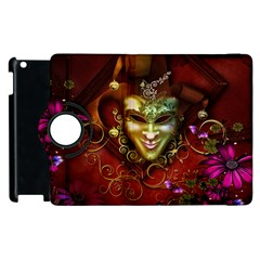 Wonderful Venetian Mask With Floral Elements Apple Ipad 2 Flip 360 Case