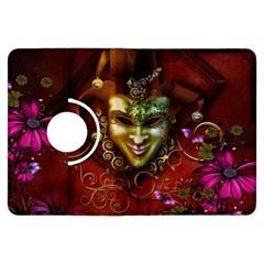 Wonderful Venetian Mask With Floral Elements Kindle Fire Hdx Flip 360 Case