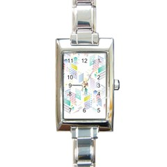 Layer Capital City Building Rectangle Italian Charm Watch