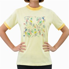 Layer Capital City Building Women s Fitted Ringer T Shirts