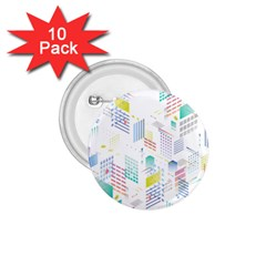 Layer Capital City Building 1 75  Buttons (10 Pack)