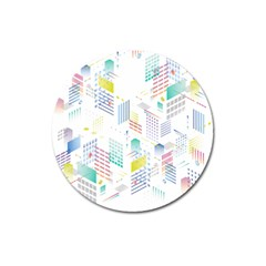 Layer Capital City Building Magnet 3  (round)