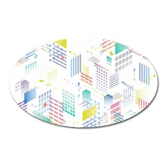 Layer Capital City Building Oval Magnet