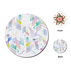 Layer Capital City Building Playing Cards (round)
