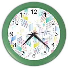 Layer Capital City Building Color Wall Clocks