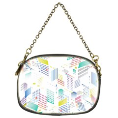 Layer Capital City Building Chain Purses (one Side)