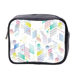 Layer Capital City Building Mini Toiletries Bag 2 Side