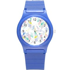 Layer Capital City Building Round Plastic Sport Watch (s)