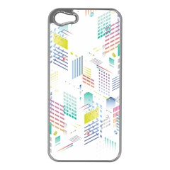 Layer Capital City Building Apple Iphone 5 Case (silver)