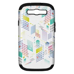 Layer Capital City Building Samsung Galaxy S Iii Hardshell Case (pc+silicone)