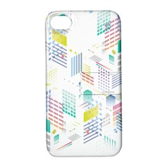 Layer Capital City Building Apple Iphone 4/4s Hardshell Case With Stand