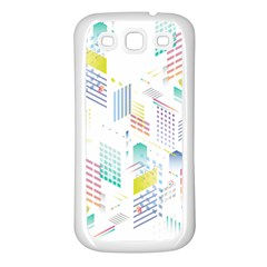 Layer Capital City Building Samsung Galaxy S3 Back Case (white)