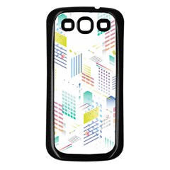 Layer Capital City Building Samsung Galaxy S3 Back Case (black)