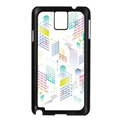 Layer Capital City Building Samsung Galaxy Note 3 N9005 Case (black)
