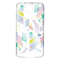 Layer Capital City Building Samsung Galaxy S5 Back Case (white)