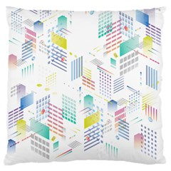Layer Capital City Building Large Flano Cushion Case (one Side)