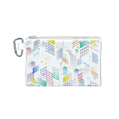 Layer Capital City Building Canvas Cosmetic Bag (s)