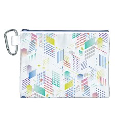 Layer Capital City Building Canvas Cosmetic Bag (l)