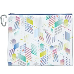 Layer Capital City Building Canvas Cosmetic Bag (xxxl)