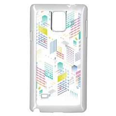 Layer Capital City Building Samsung Galaxy Note 4 Case (white)