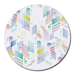 Layer Capital City Building Round Mousepads