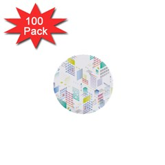 Layer Capital City Building 1  Mini Buttons (100 Pack)